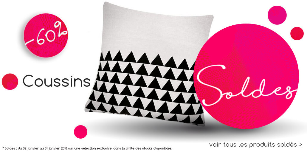 Soldes coussins BE