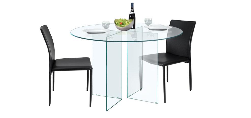 promotion 44 table ronde pure ancien prix 449. Black Bedroom Furniture Sets. Home Design Ideas