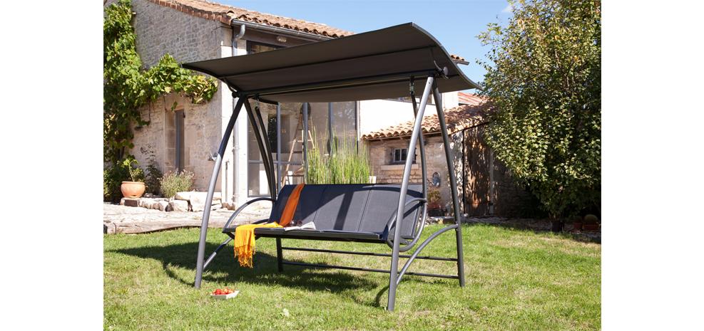 Balancelle de jardin en aluminium meilleures images d for Balancelle de jardin jardiland