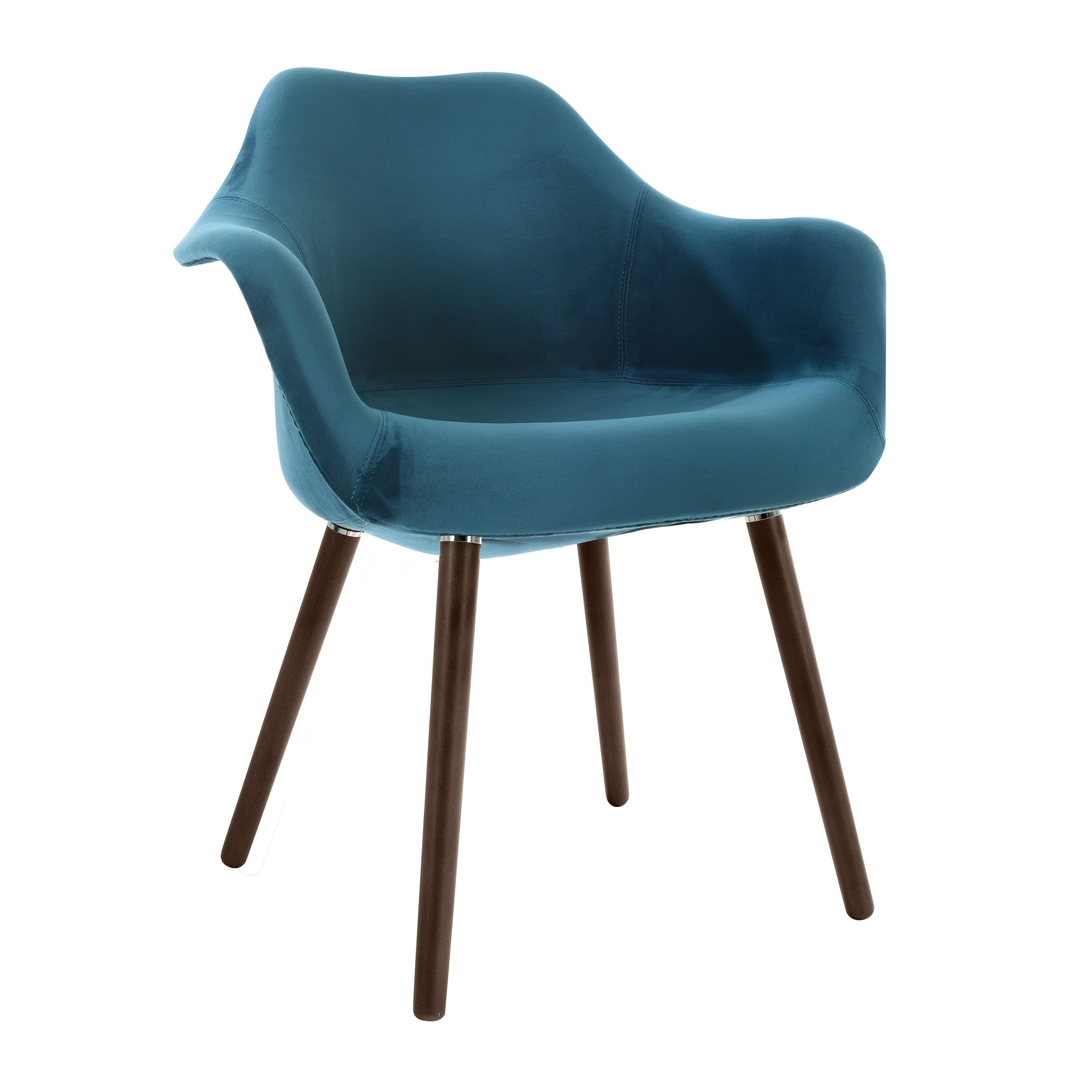 chaise anssen en velours bleu canard commandez les chaises anssen en velours bleu rdv d co. Black Bedroom Furniture Sets. Home Design Ideas