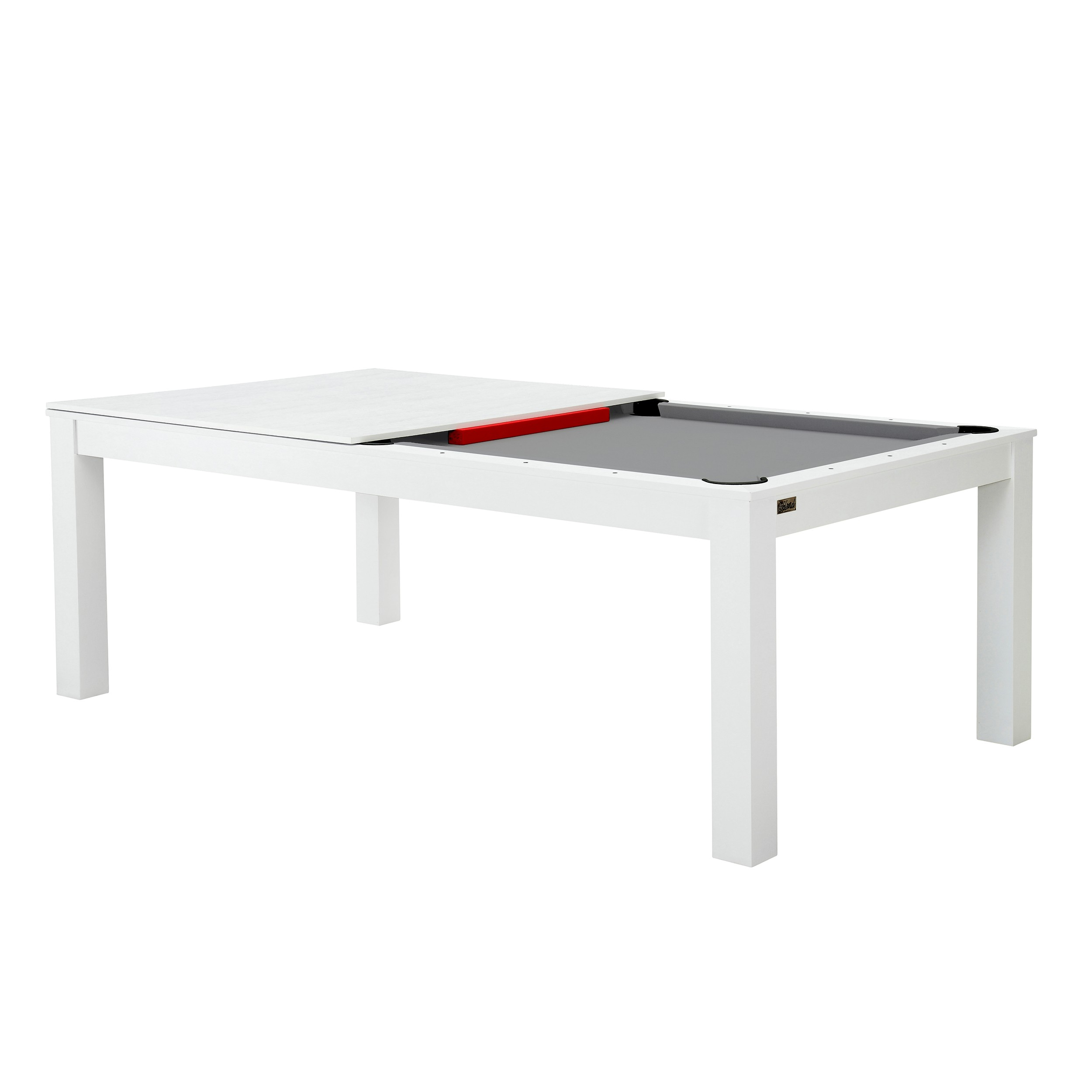 billard table convertible blanc tapis gris commandez les. Black Bedroom Furniture Sets. Home Design Ideas