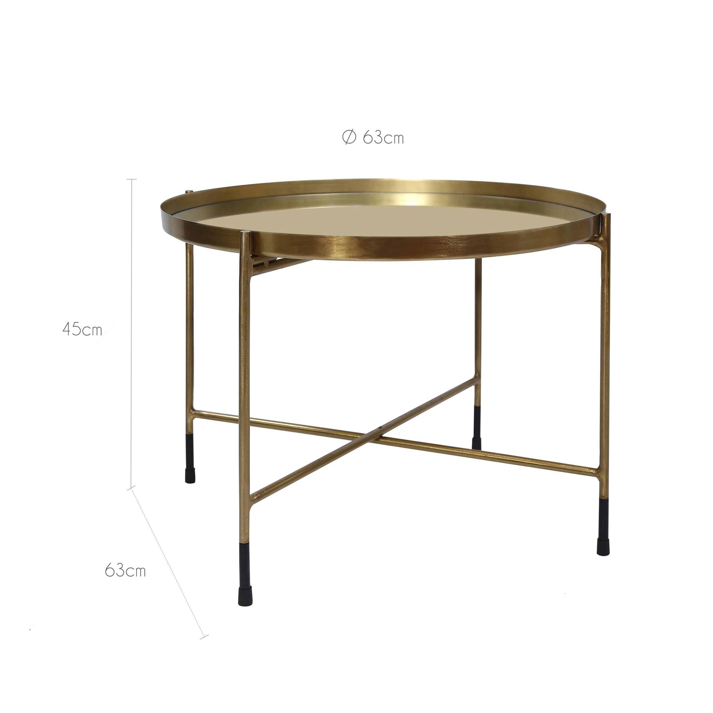 table basse ronde dusti laiton d couvrez les tables. Black Bedroom Furniture Sets. Home Design Ideas