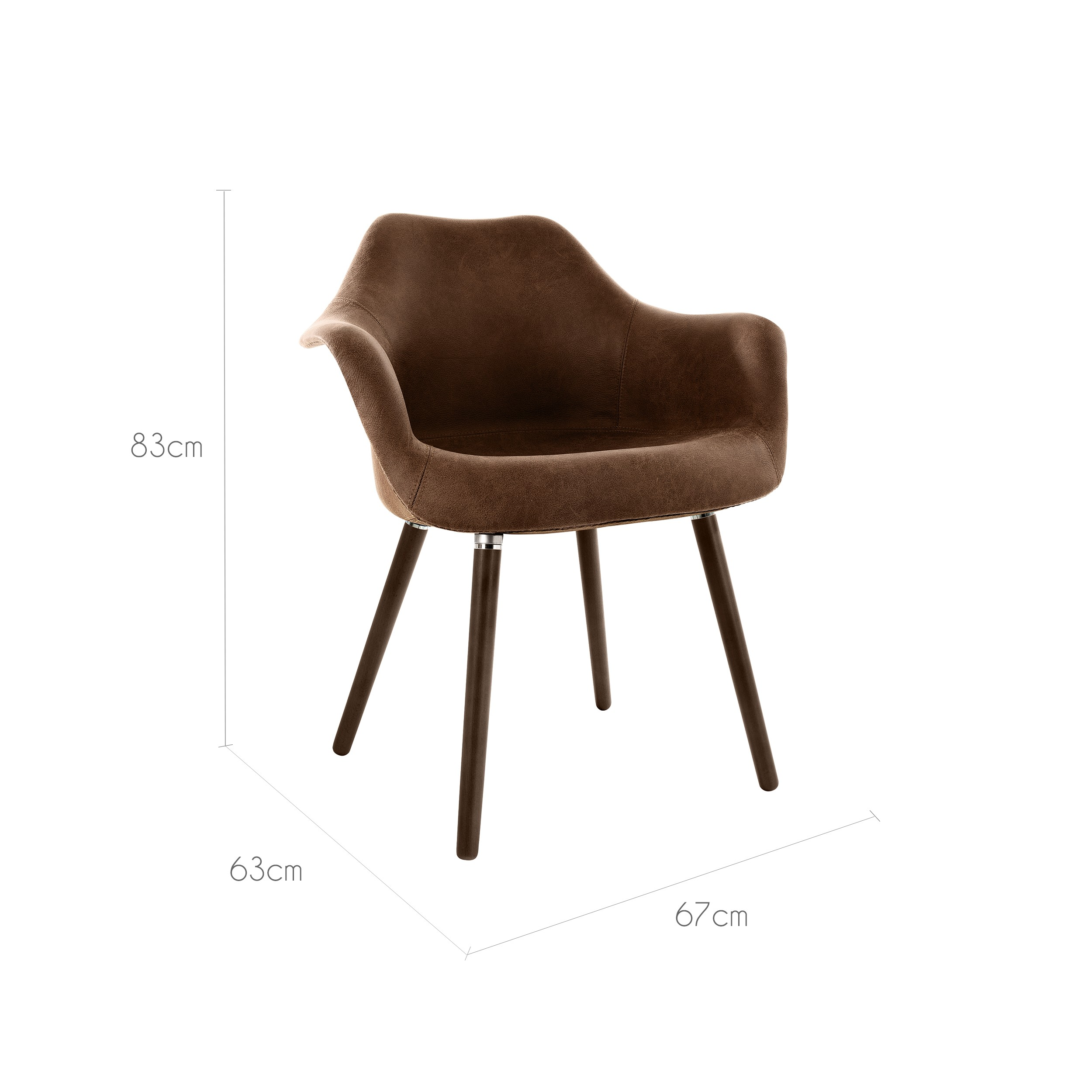 chaise anssen marron vieilli achetez les chaises anssen marron vieilli rdv d co. Black Bedroom Furniture Sets. Home Design Ideas