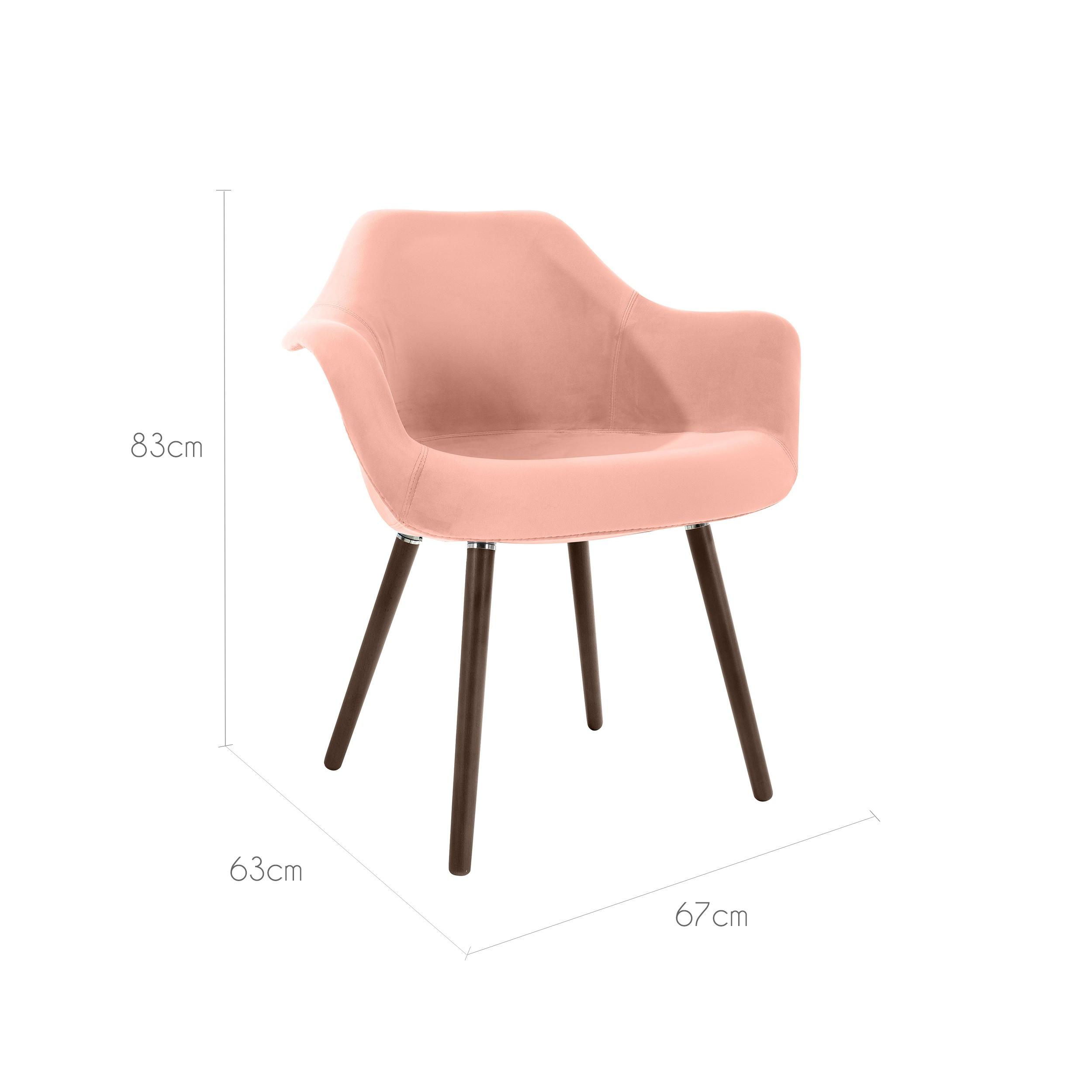 chaise anssen en velours rose testez les chaises anssen en velours rose rdv d co. Black Bedroom Furniture Sets. Home Design Ideas