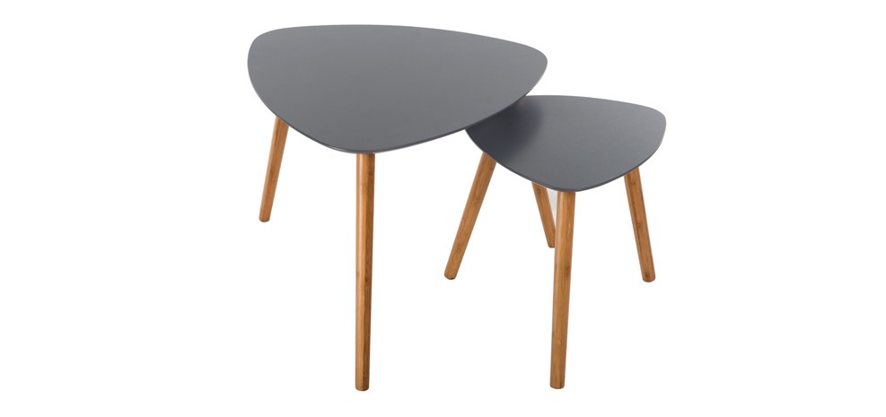 Table basse scandinave grise lot de 2 commandez nos tables basses scandin - Table basse de couleur ...