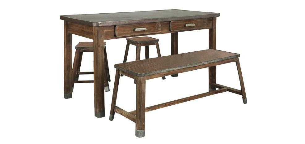 banc en bois et m tal commandez nos bancs en bois et m tal rdv d co. Black Bedroom Furniture Sets. Home Design Ideas