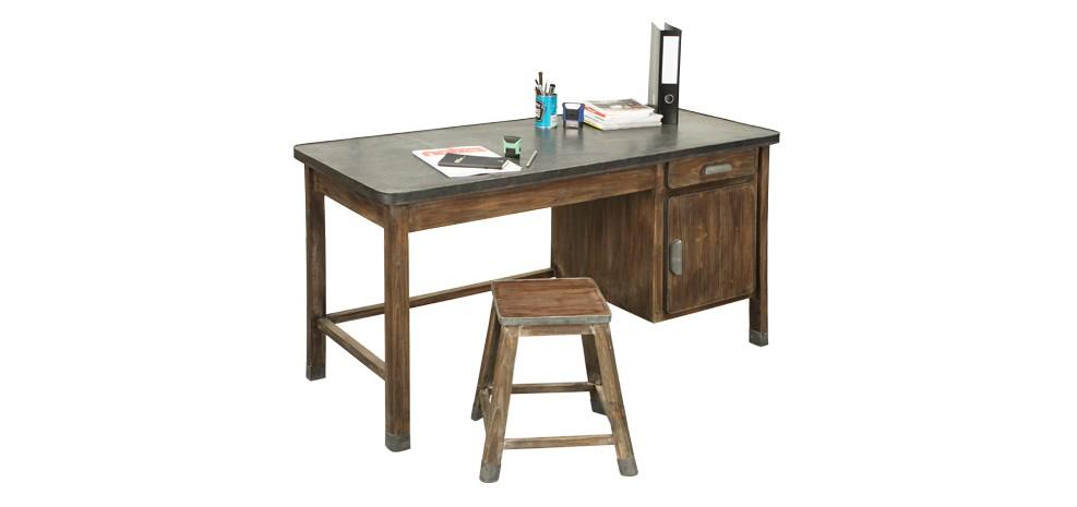 Bureau en bois vieilli achetez nos bureaux en bois for Acheter un meuble bureau