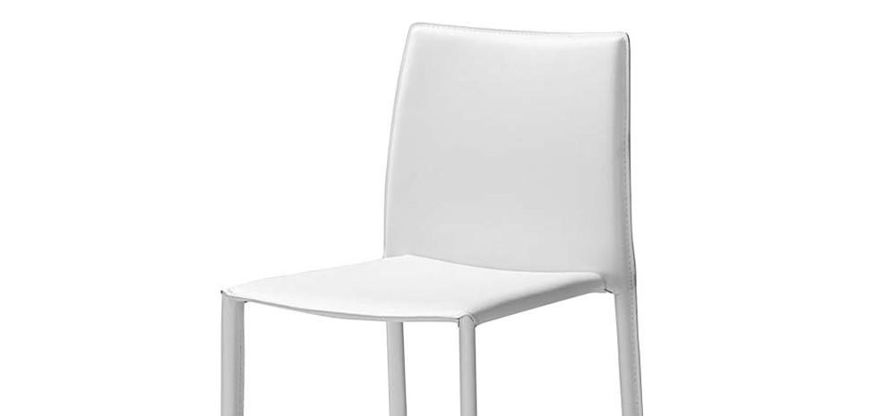 chaise de bar blanche awesome lot de tabourets de bar en pieds luge en mtal gustavo blanc with. Black Bedroom Furniture Sets. Home Design Ideas