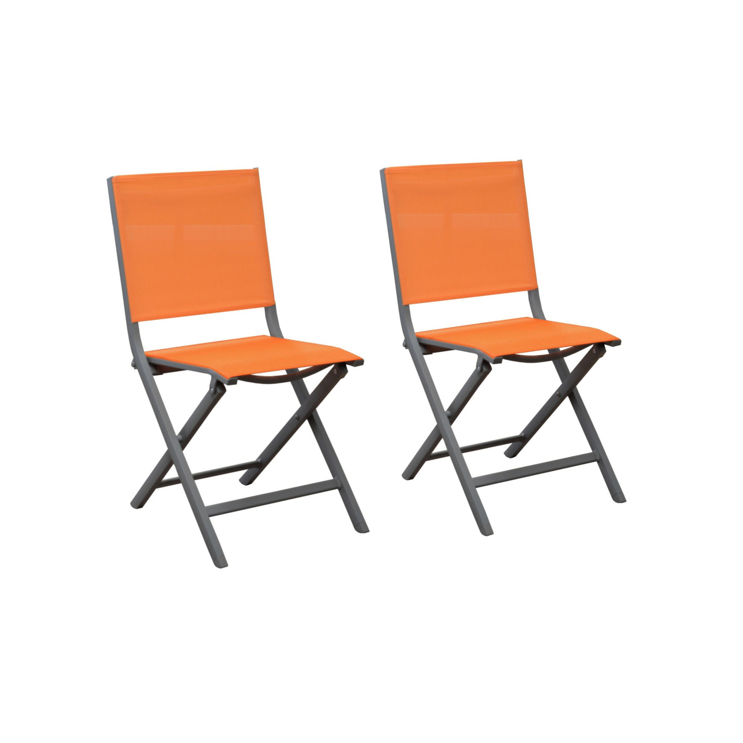 chaise de jardin terra orange lot de 2 adoptez un lot de 2 chaises de jardin terra orange. Black Bedroom Furniture Sets. Home Design Ideas