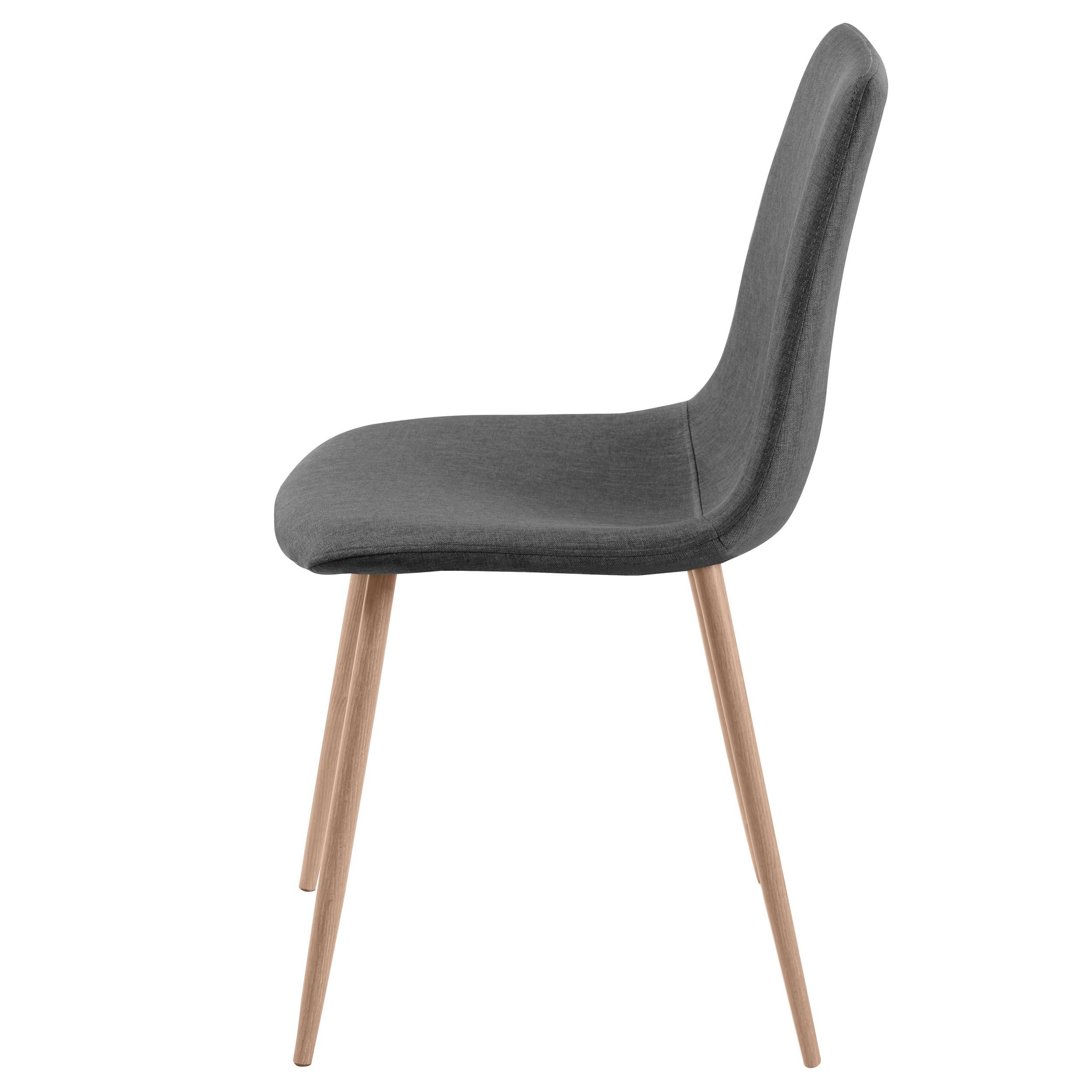Chaise aleksi grise lot de 2 d couvrez nos chaises - Chaise de jardin grise ...