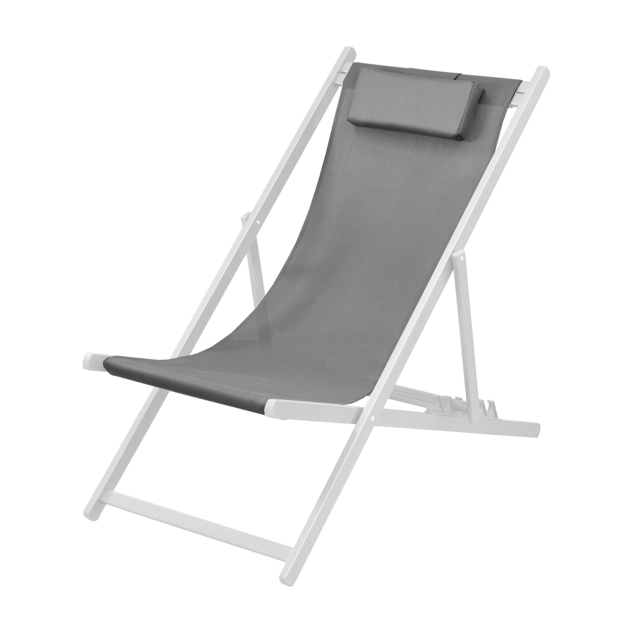 chaise longue calvi grise et blanche lot de 2 achetez nos chaises longues calvi grises et. Black Bedroom Furniture Sets. Home Design Ideas