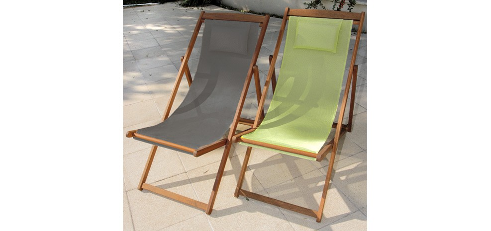 Chaise longue en bois verte achetez nos chaises longues for Chaise verte