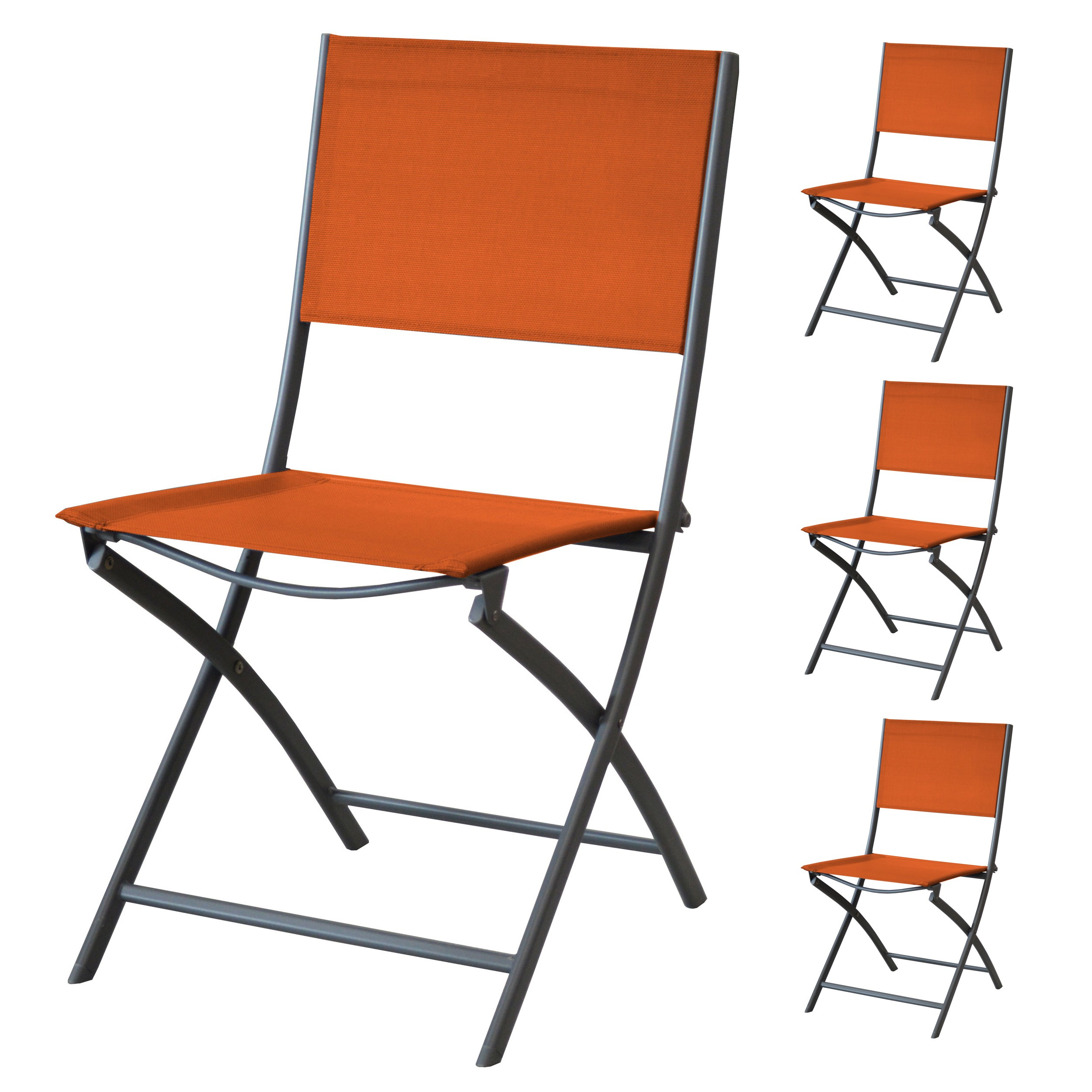 Achat Chaise Pliable Orange 4