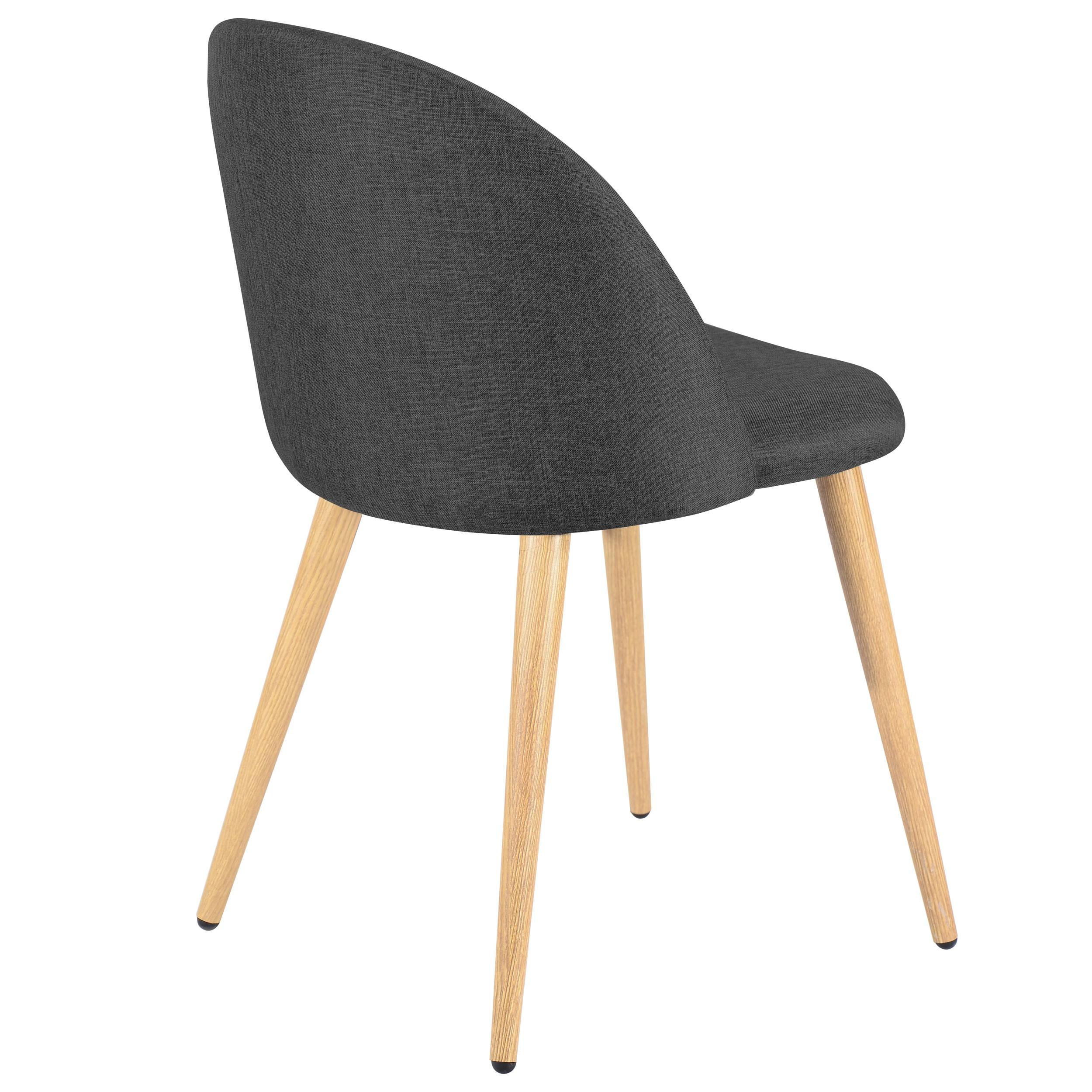 Chaise en tissu interesting chaise en tissu bucura chaise for Chaise noire tissu