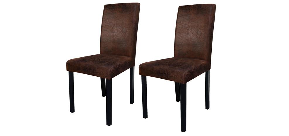 Chaise havane marron vieilli lot de 2 choisissez nos chaises havane marro - Chaise pas cher conforama ...