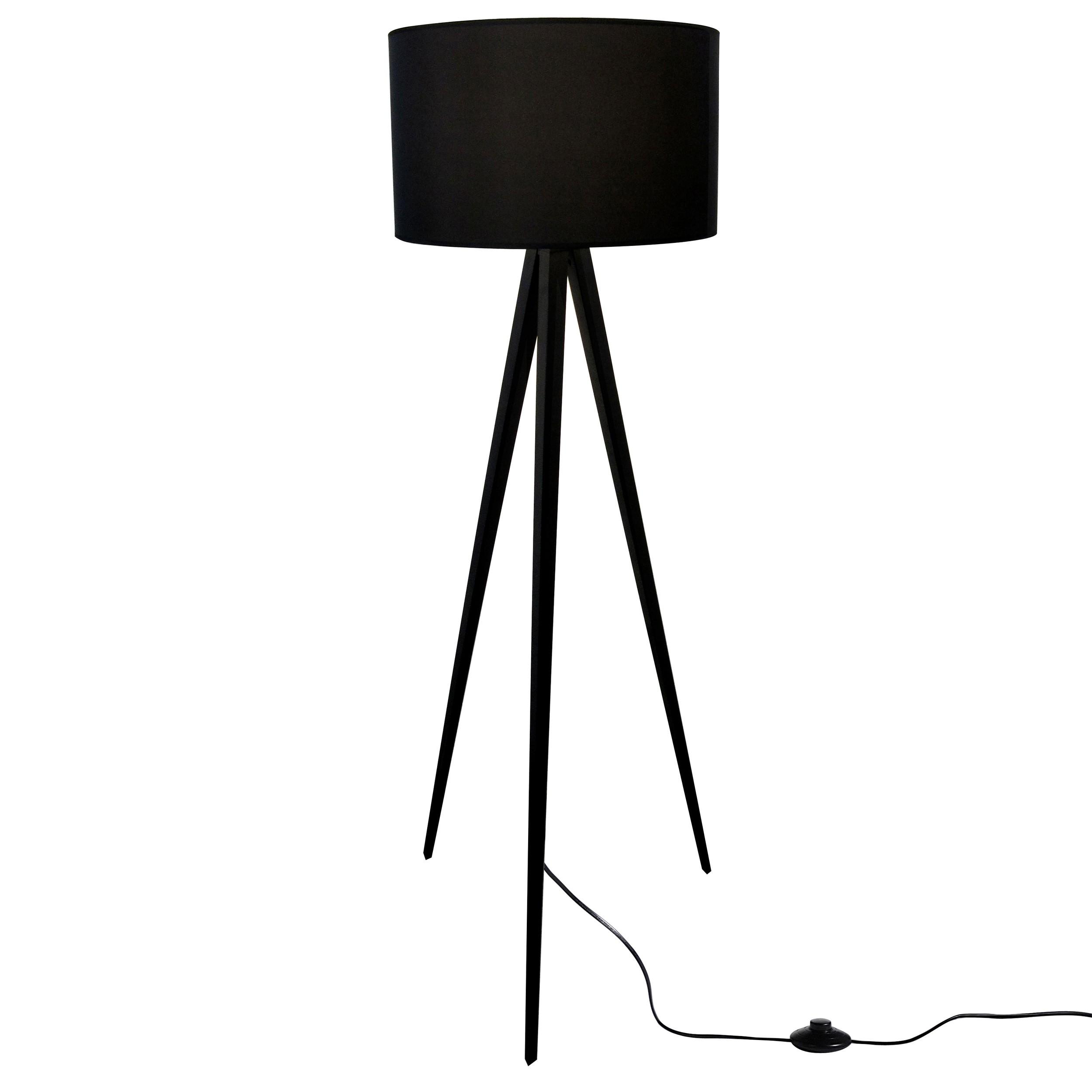 lampadaire tr pied noir commandez les lampadaires. Black Bedroom Furniture Sets. Home Design Ideas