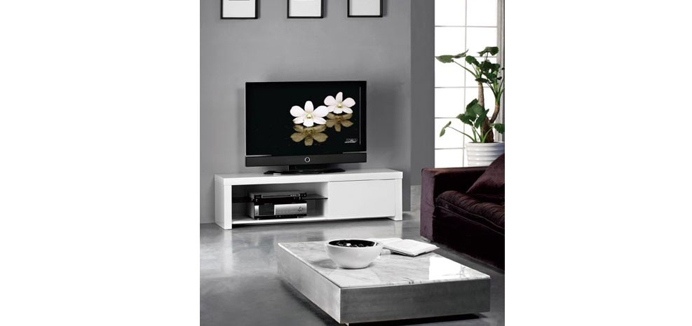 meuble tv atlas blanc d couvrez nos meubles tv atlas blancs petit prix rendez vous d co. Black Bedroom Furniture Sets. Home Design Ideas