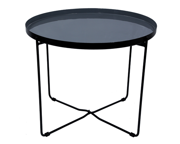 table basse ronde hisor grise commandez les tables. Black Bedroom Furniture Sets. Home Design Ideas