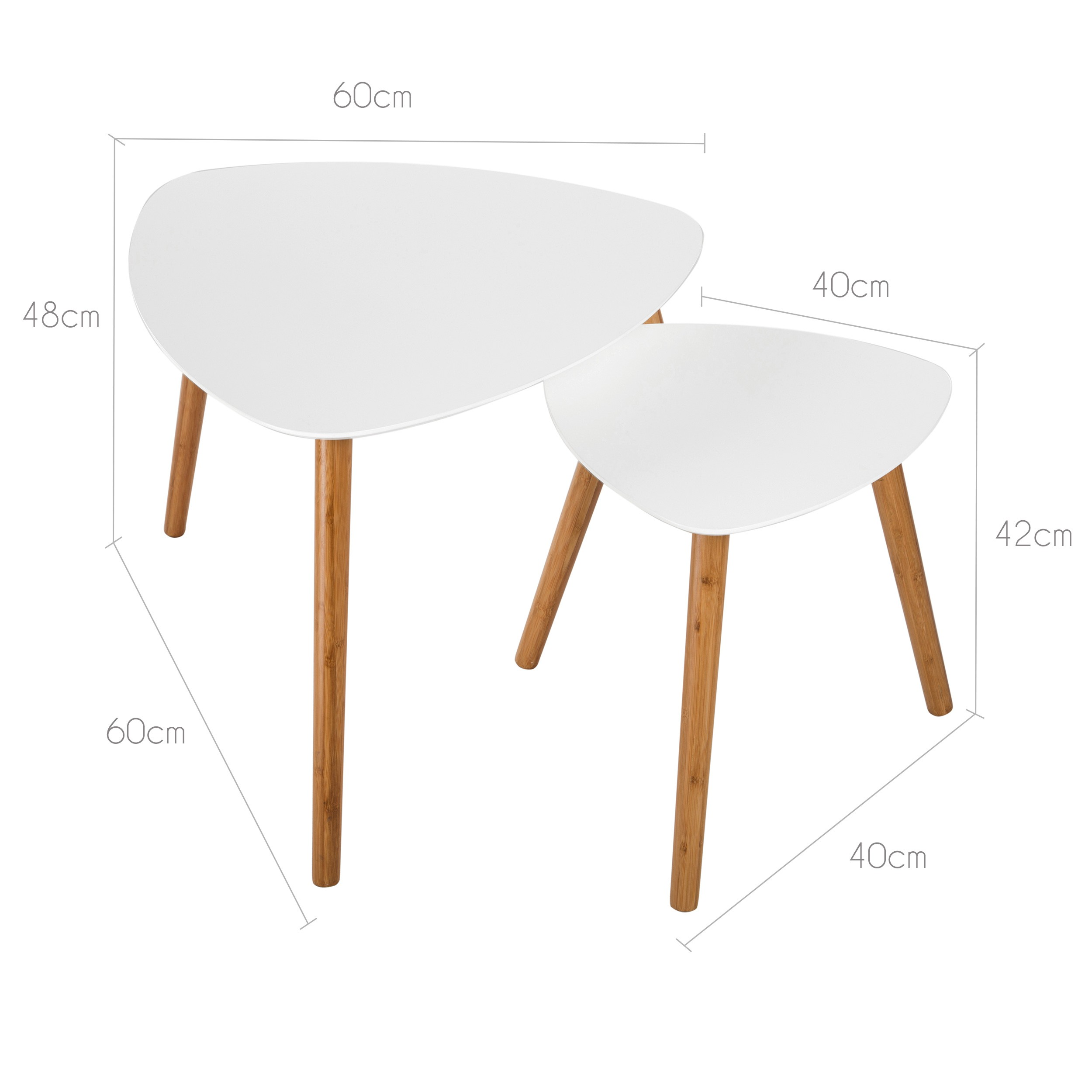 table basse scandinave blanche lot de 2 achetez nos. Black Bedroom Furniture Sets. Home Design Ideas