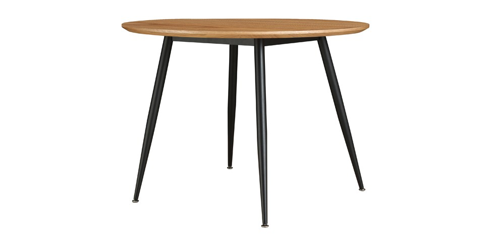 table ronde oulu 100 cm bois clair achetez nos tables. Black Bedroom Furniture Sets. Home Design Ideas