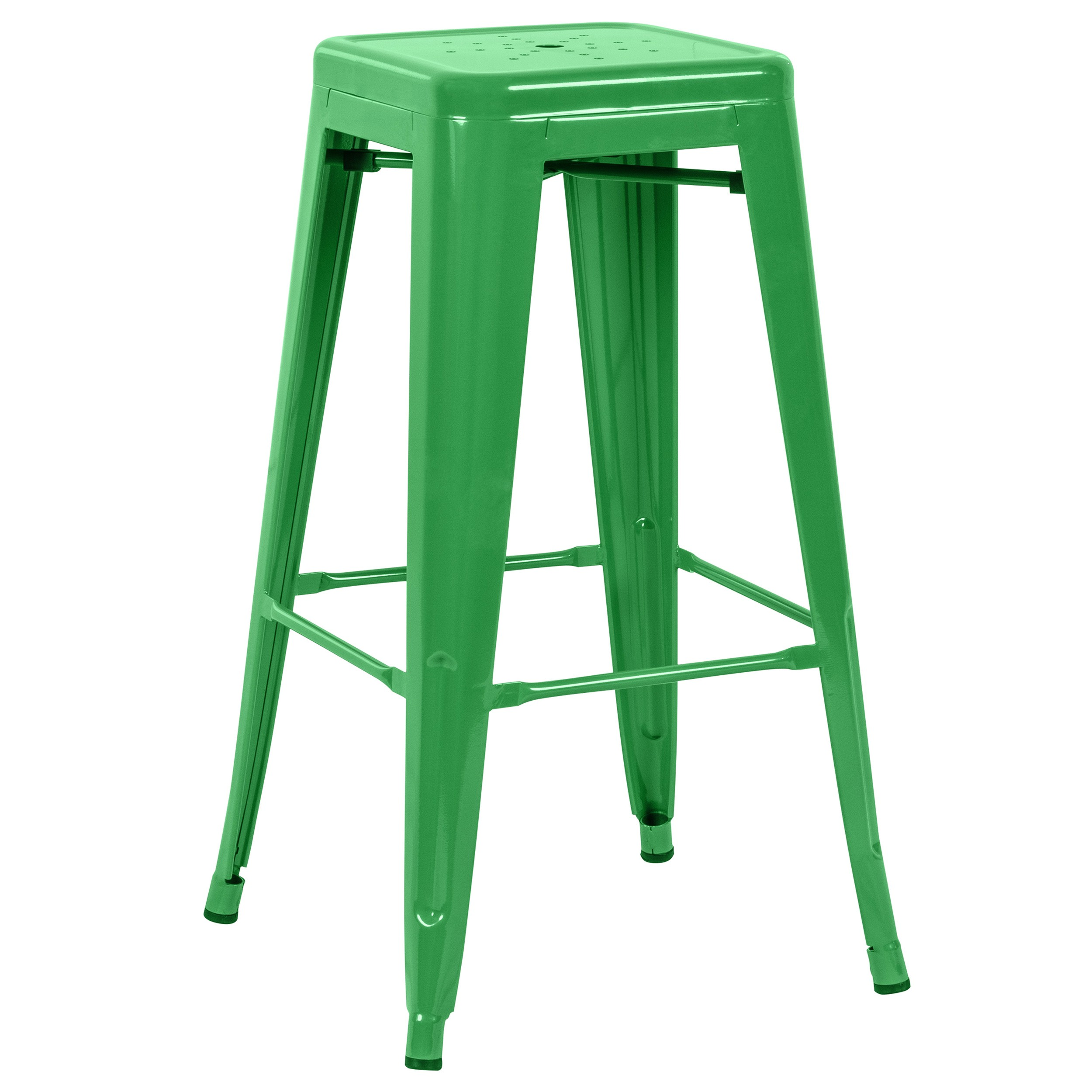 tabouret de bar indus vert lot de 2 commandez nos. Black Bedroom Furniture Sets. Home Design Ideas