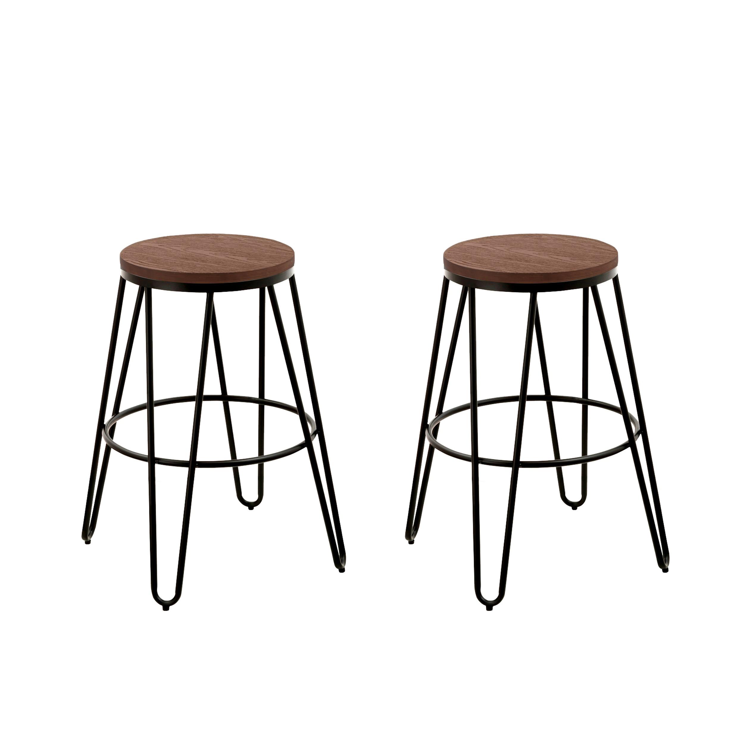 tabouret de bar industry lot de 2 achetez les tabourets de bar industry lot de 2 rdv d co. Black Bedroom Furniture Sets. Home Design Ideas