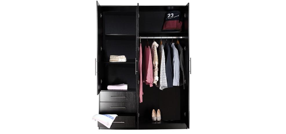 Armoire noire 3 portes roma choisissez nos armoires - Armoire noire portes ...