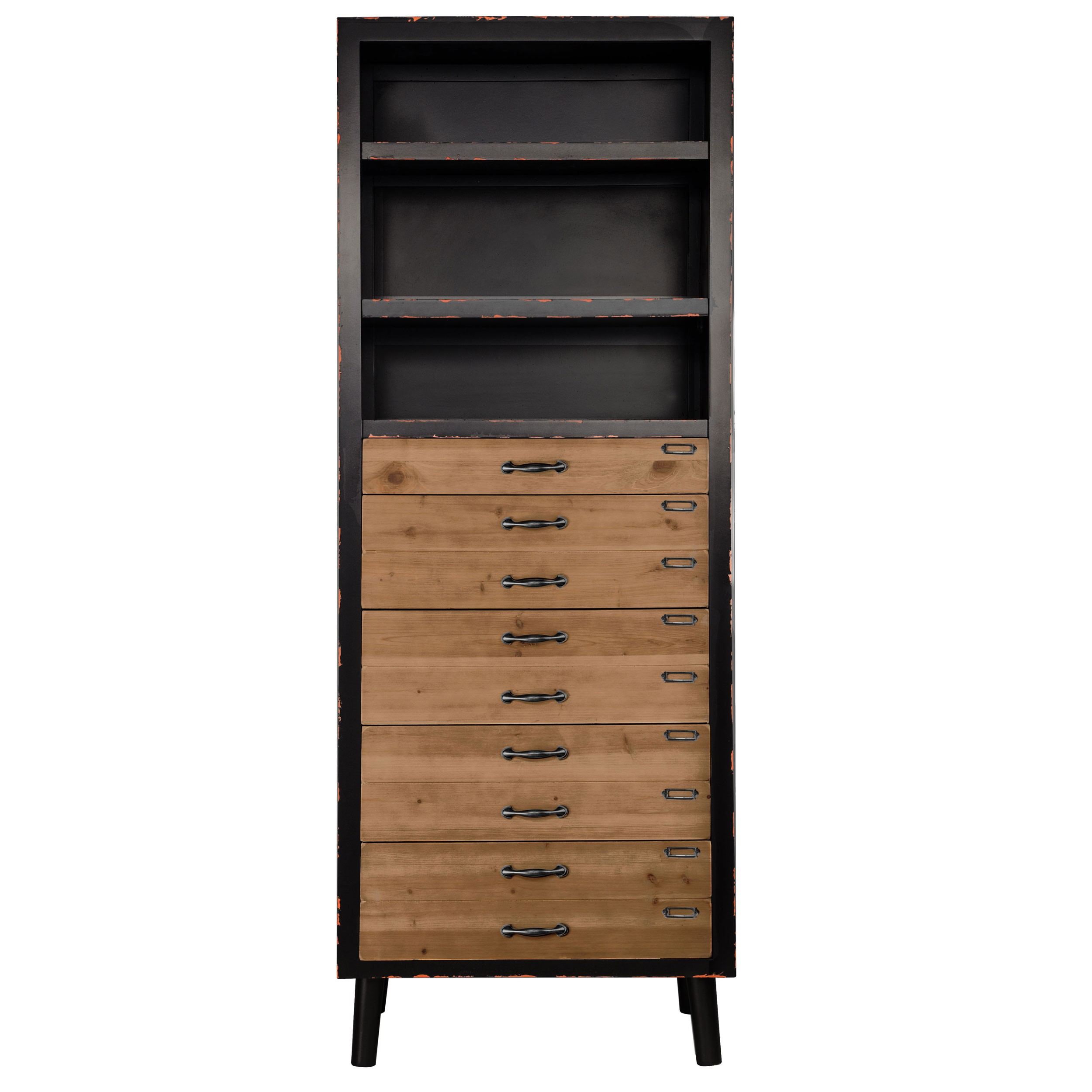 biblioth que lohja 5 tiroirs et 3 tag res achetez les. Black Bedroom Furniture Sets. Home Design Ideas