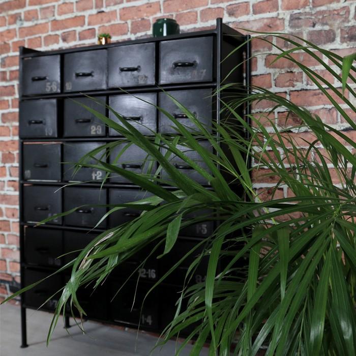 acheter buffet design noir a tiroir