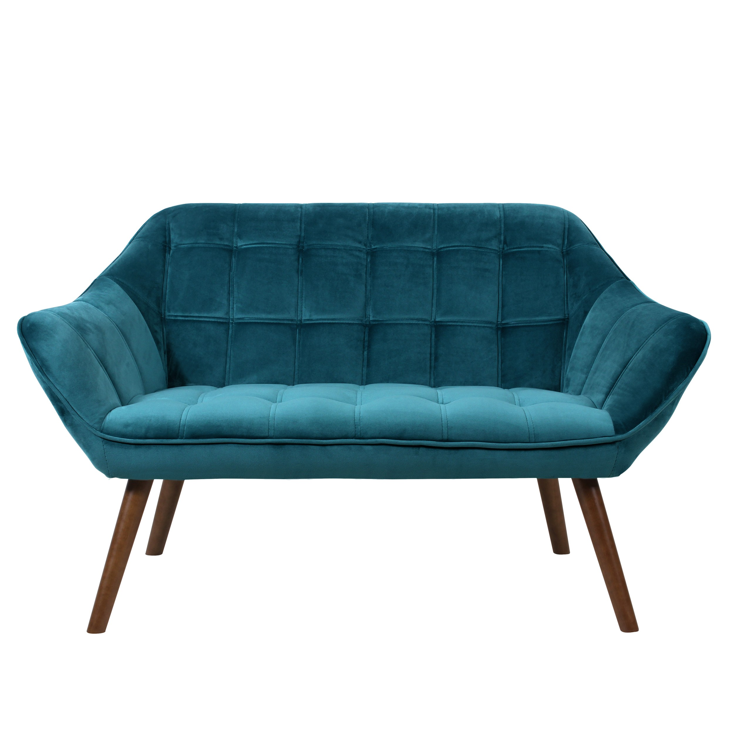 acheter canape 2 places velours turquoise