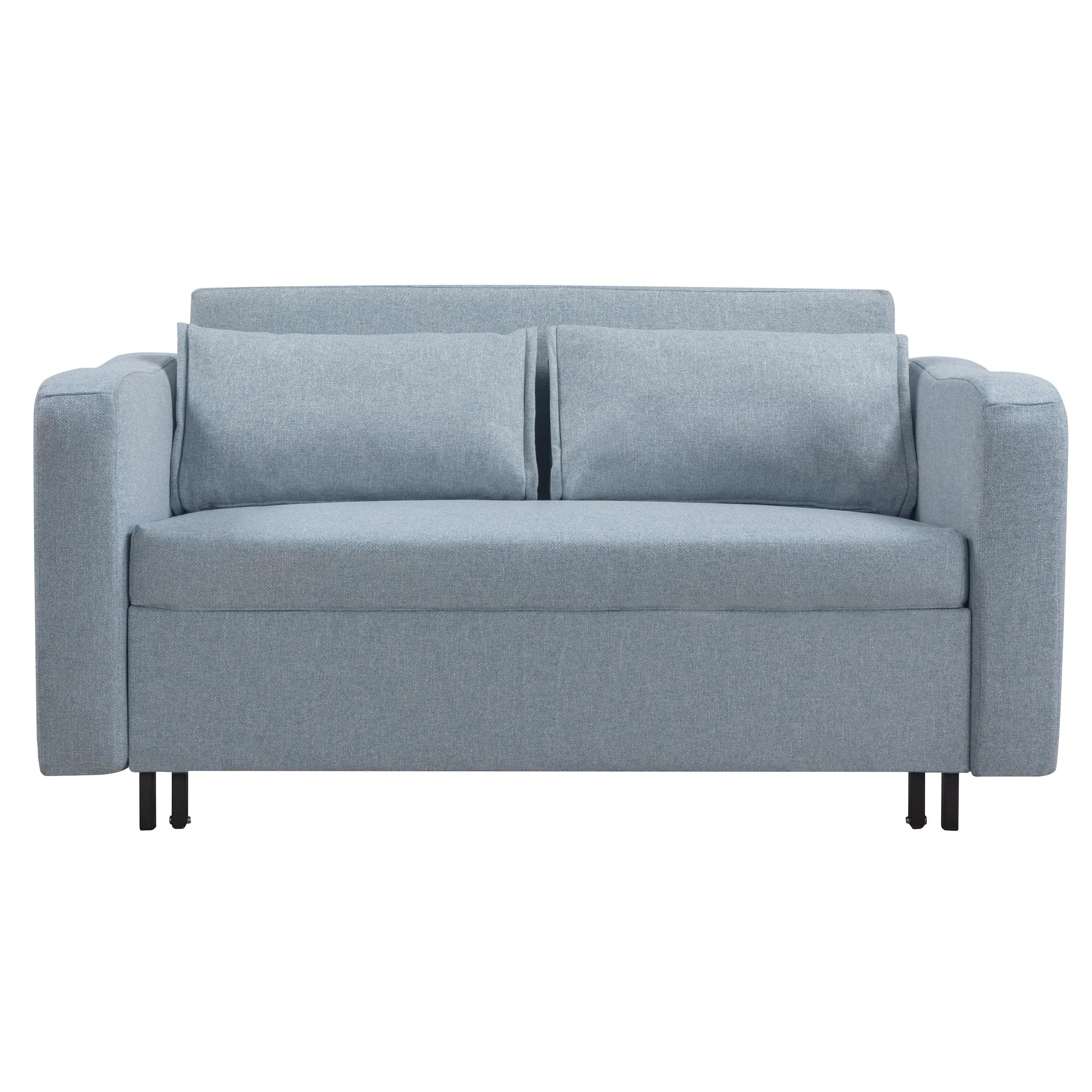acheter canape bleu clair tissu