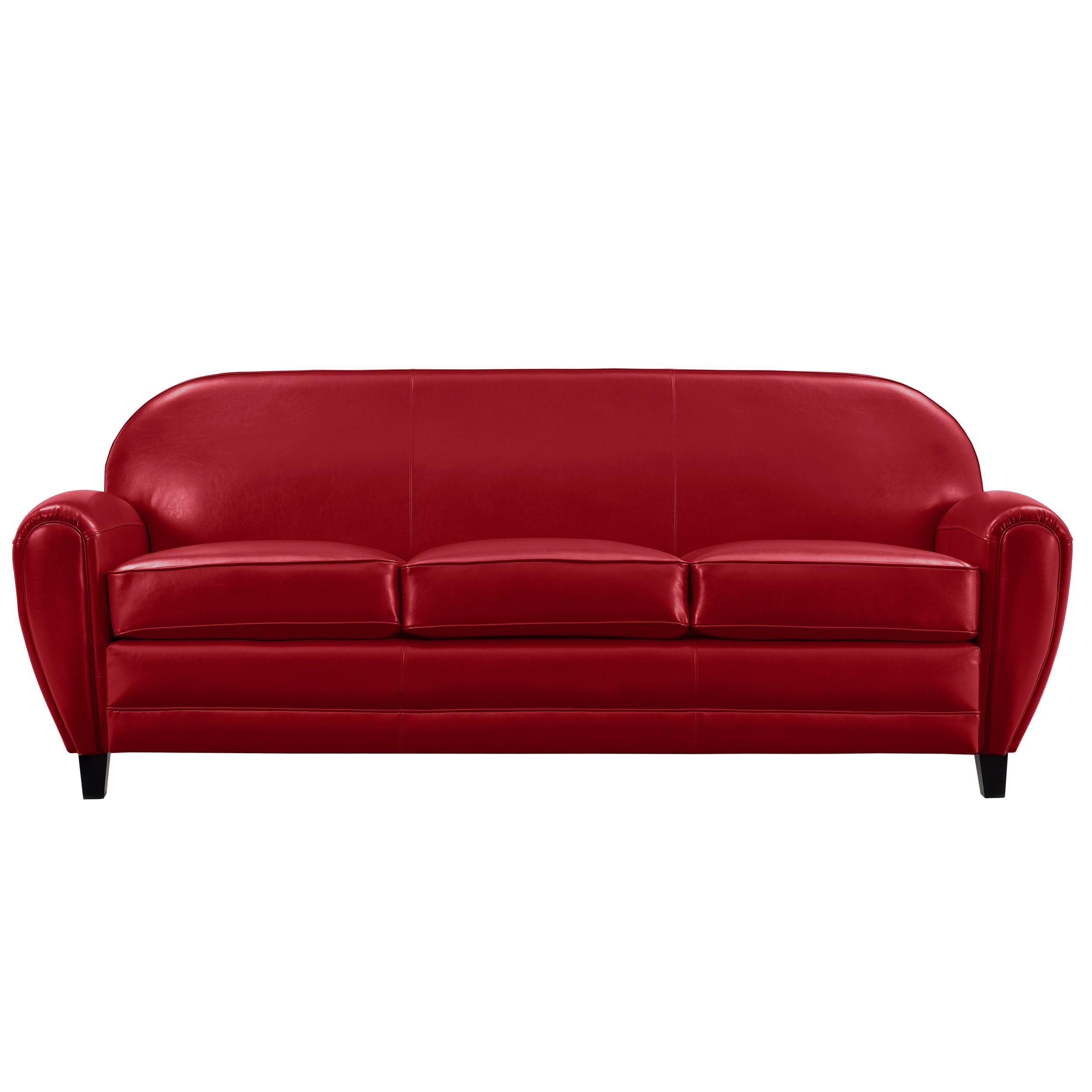 canap club 3 places cuir rouge installez vous bord de. Black Bedroom Furniture Sets. Home Design Ideas