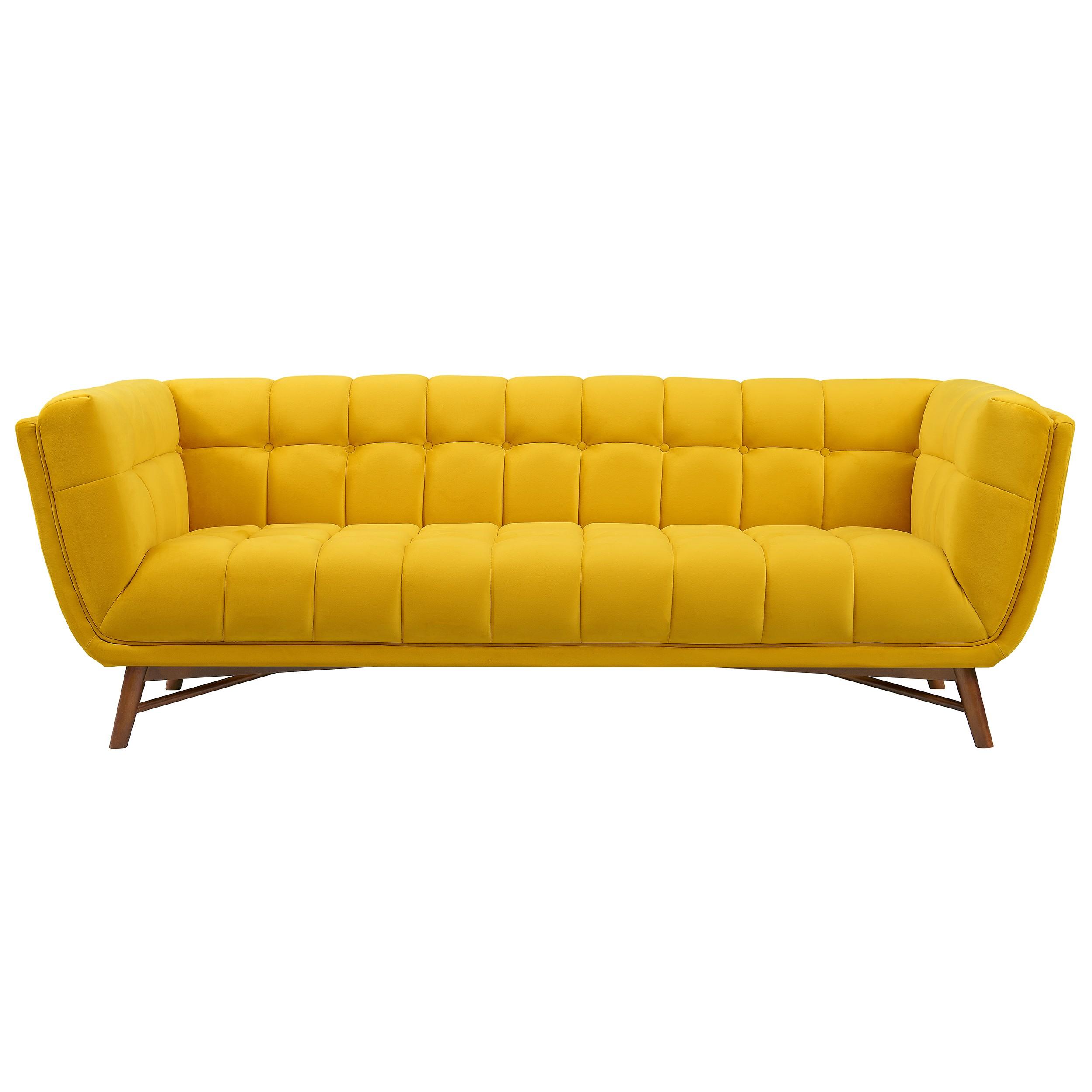 acheter canape jaune en velours