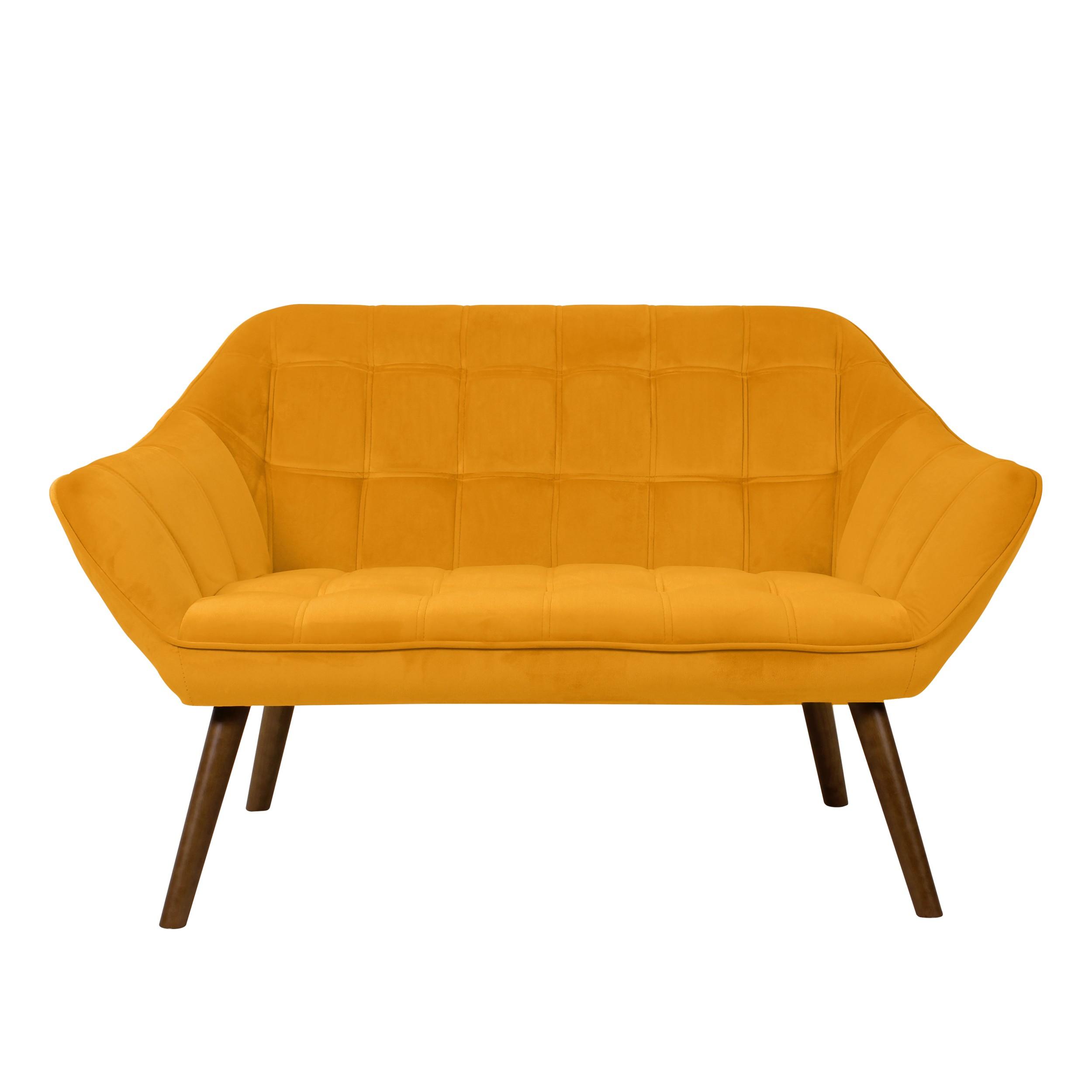acheter canape velours jaune 2 places