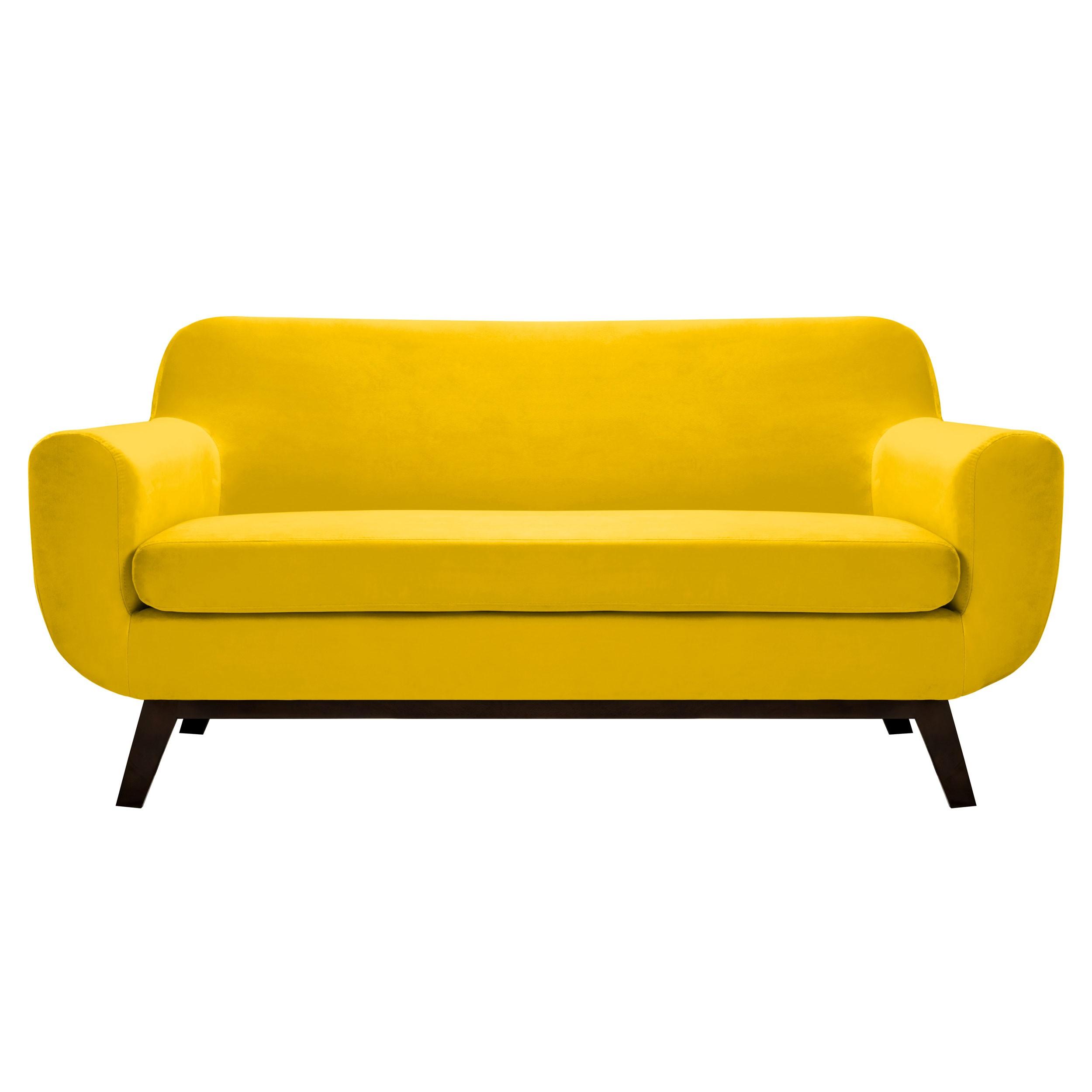 canap copenhague 2 places en velours jaune d couvrez les canap s copenhague 2 places en. Black Bedroom Furniture Sets. Home Design Ideas