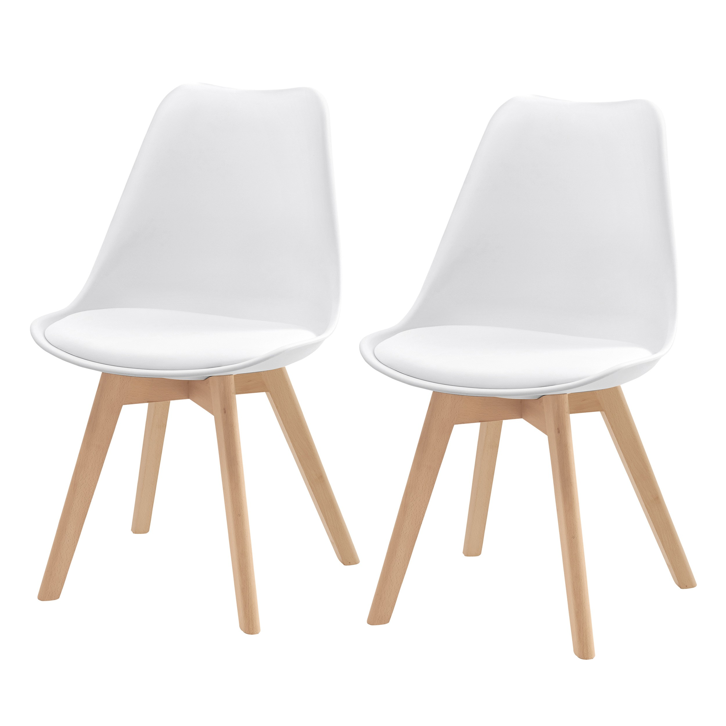 Chaise scandinave lot de 2 commandez nos chaises for Chaise blanche et bois design