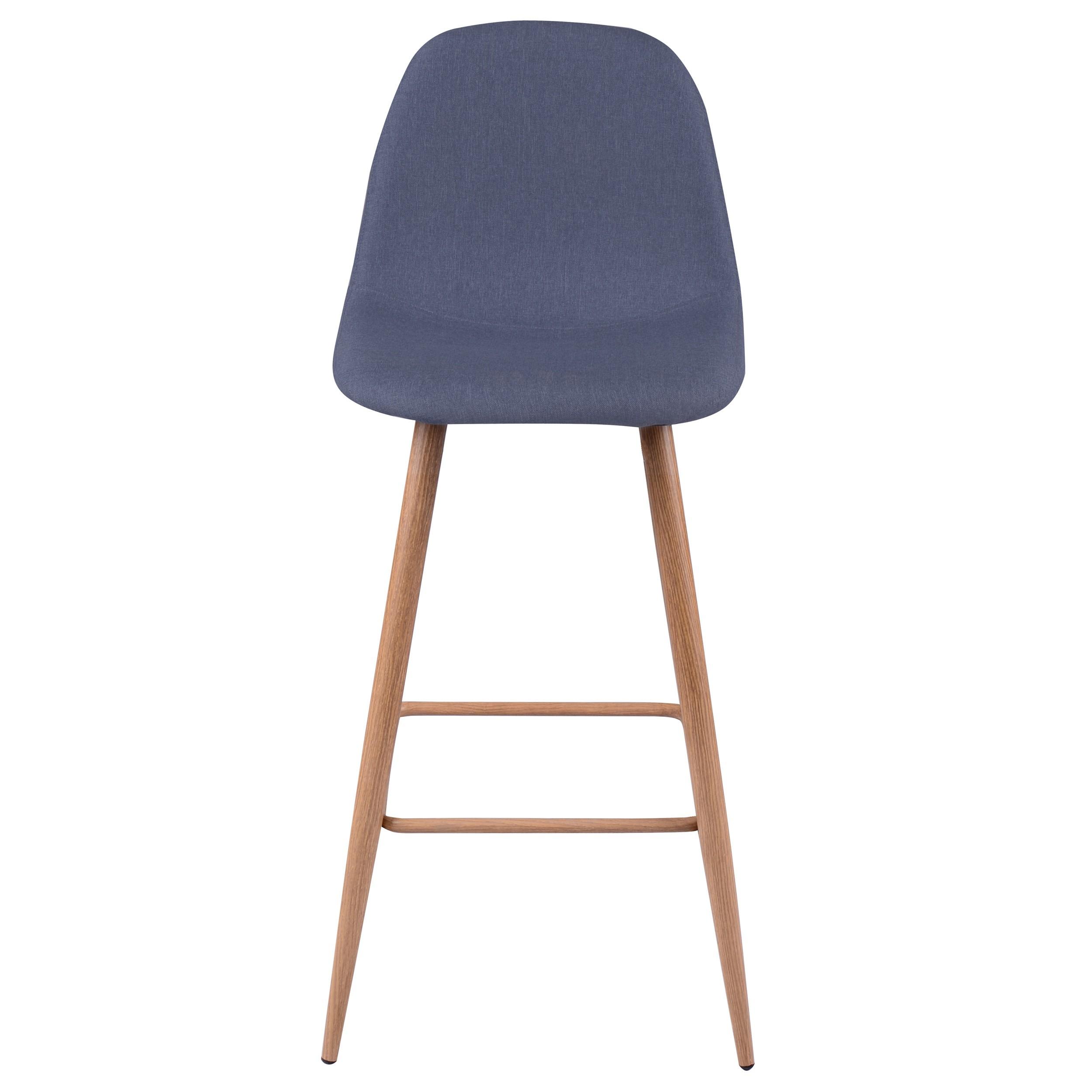 Tabouret de bar fredrik bleu gris lot de 2 d couvrez for Acheter chaise design