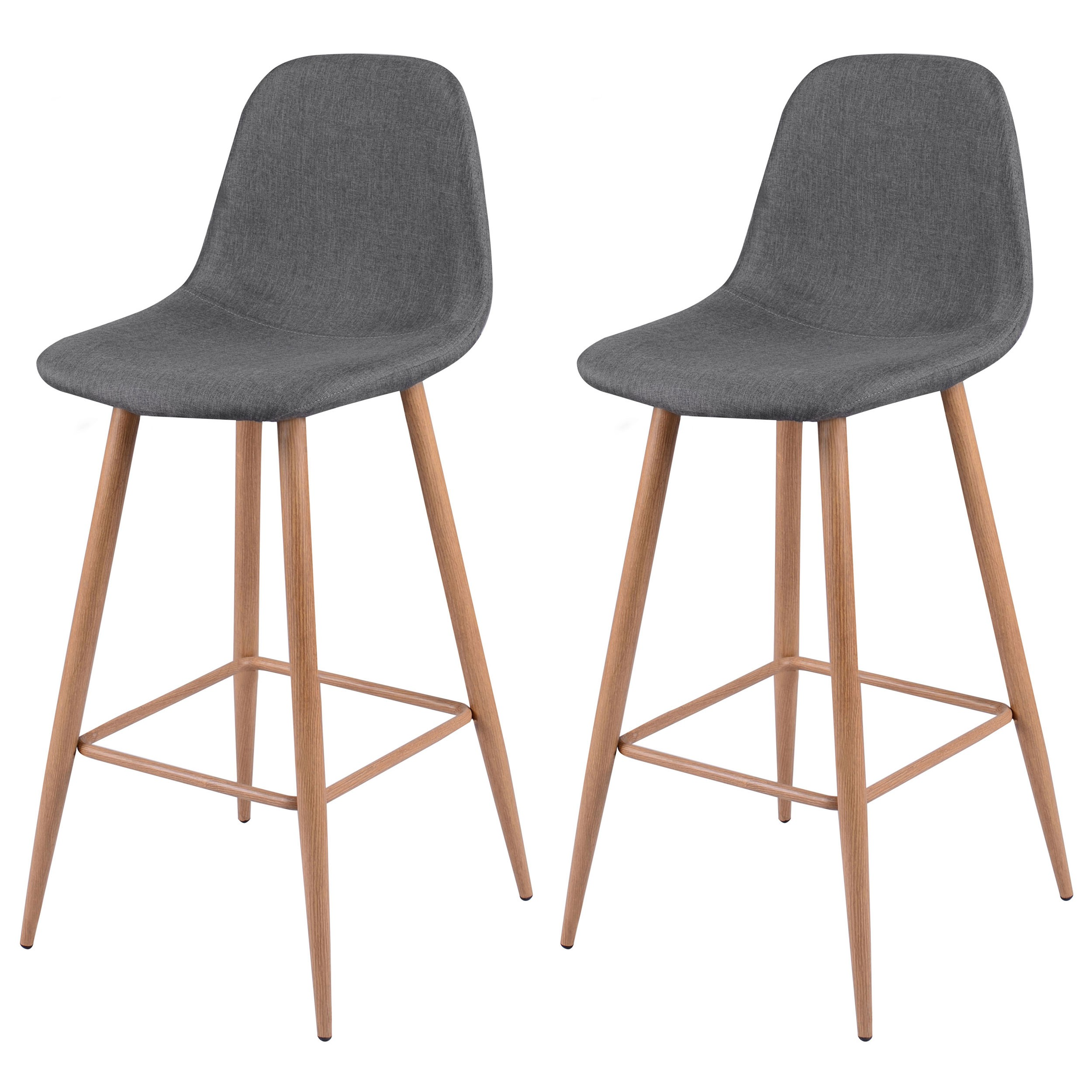 tabouret de bar fredrik gris lot de 2 optez pour les tabourets de bar fredrik gris lot de 2. Black Bedroom Furniture Sets. Home Design Ideas