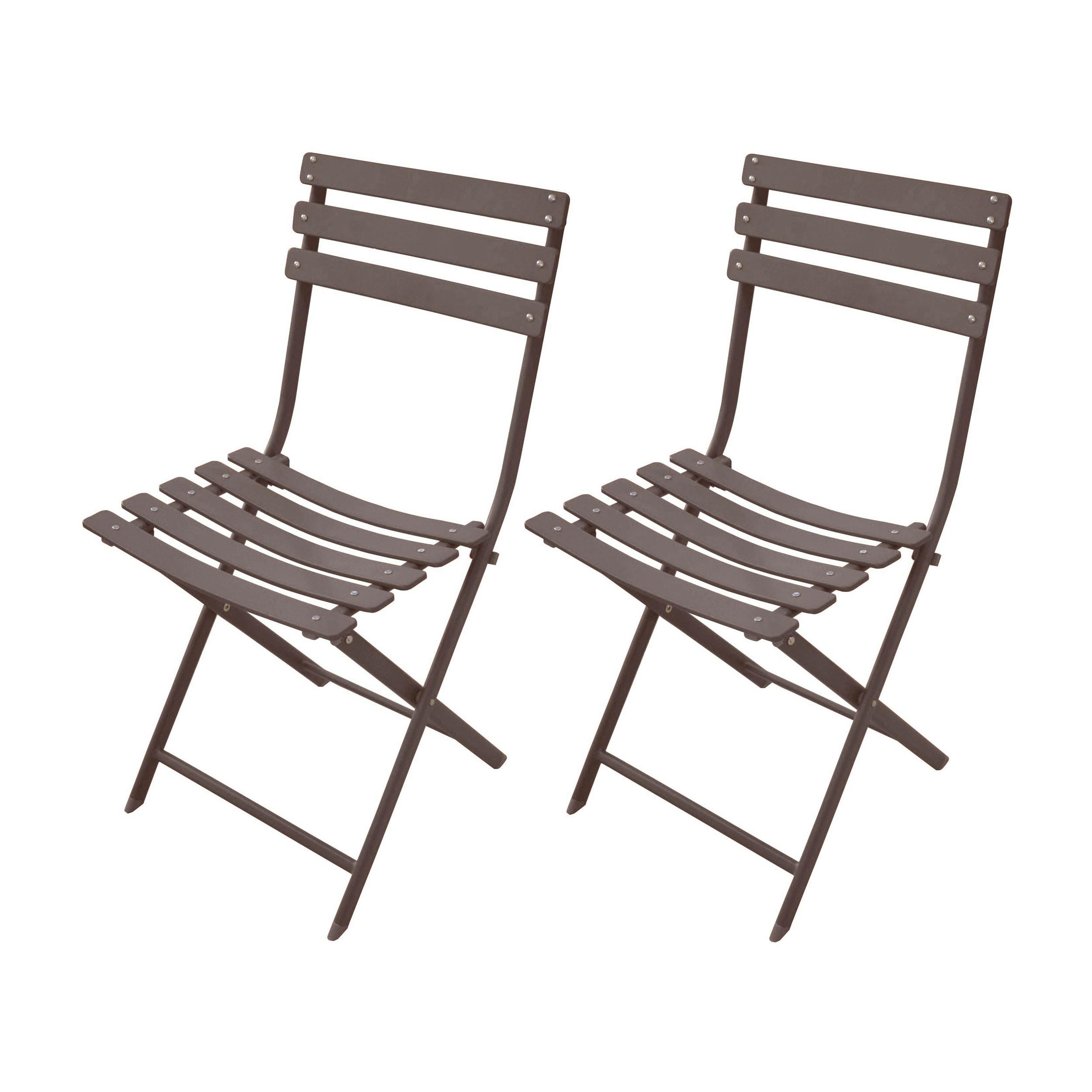 acheter chaise de jardin taupe metal