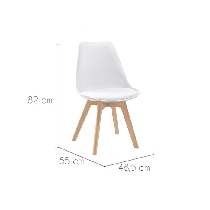 Chaises blanches scandinaves joy chaise blanche avec for Acheter chaise design