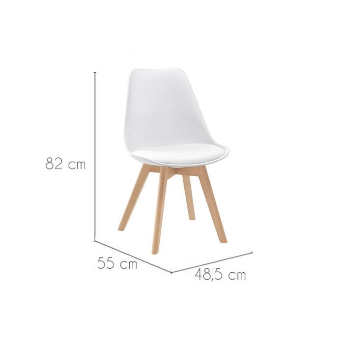 Chaise scandinave lot de 2 commandez nos chaises for Acheter une chaise