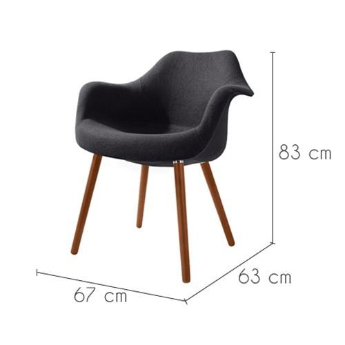 Chaise anssen gris fonc commandez nos chaises anssen for Acheter chaise design