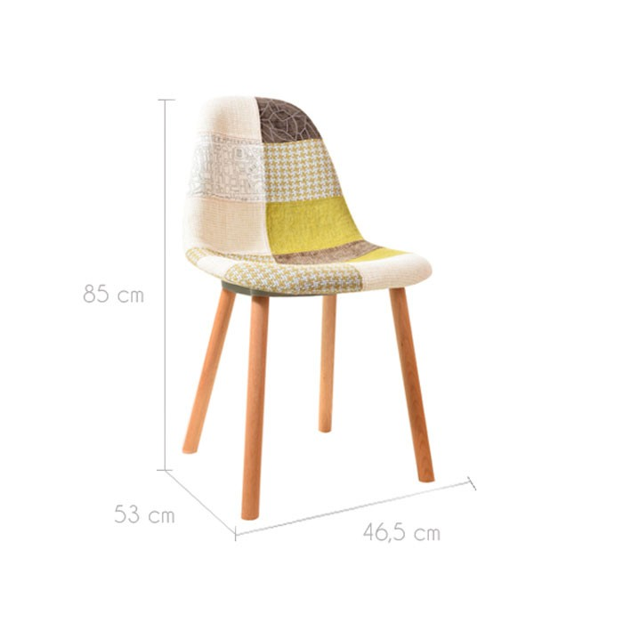 chaise arctik patchwork verte lot de 2 testez nos chaises arctik patchwork vertes lot de 2. Black Bedroom Furniture Sets. Home Design Ideas