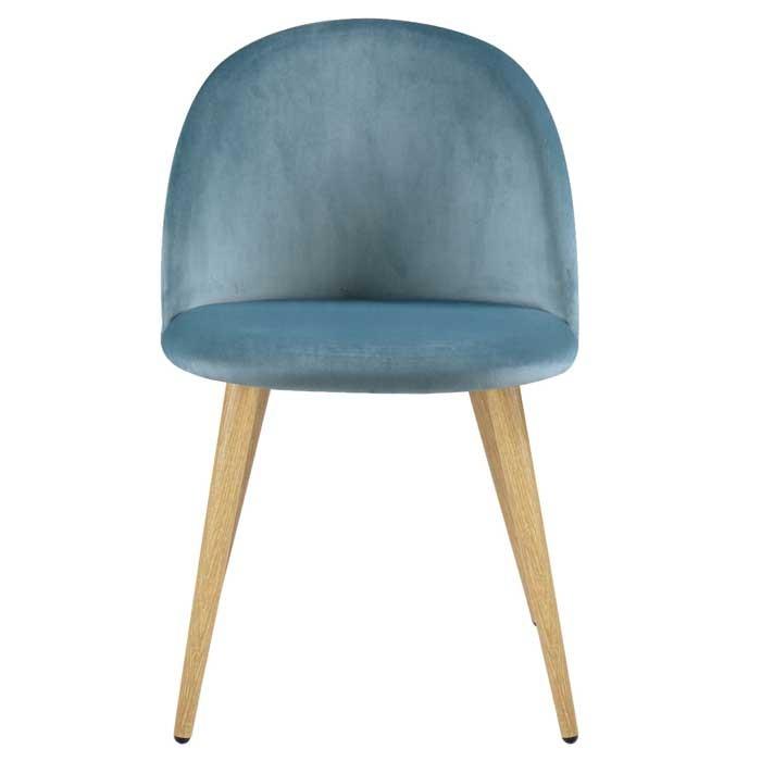 Chaise cozy en velours vert lot de 2 achetez les for Acheter chaise design