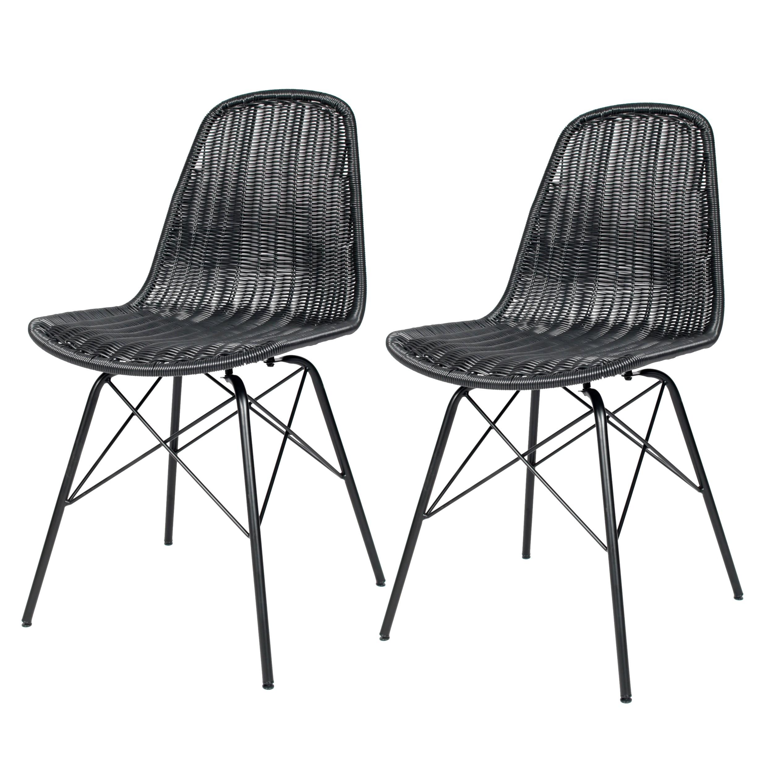 acheter-chaise-en-resine-tressee-lot-de-2_1 Meilleur De De Fauteuil Resine Tressee Concept