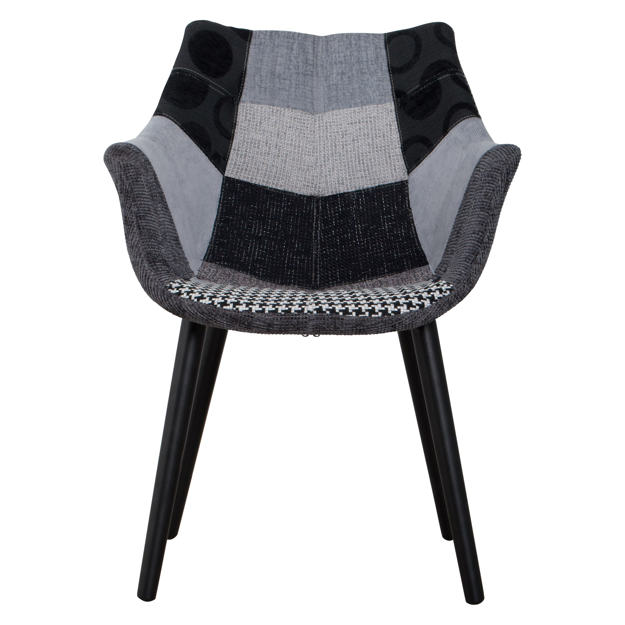 Chaise anders patchwork grise zuiver achetez nos chaises for Acheter chaise
