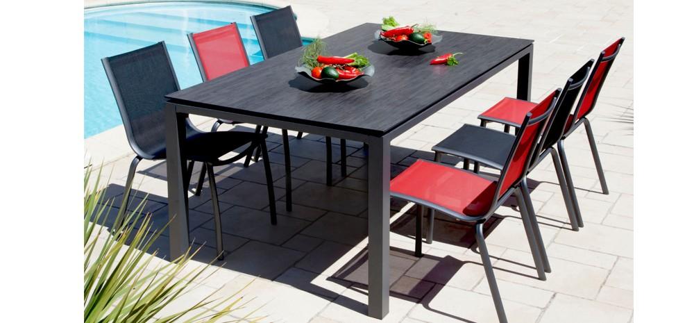 chaise de jardin santa rosa rouge lot de2 optez pour nos chaises de jardin santa rosa. Black Bedroom Furniture Sets. Home Design Ideas