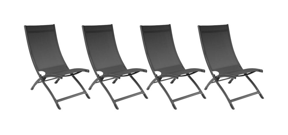 Chaise longue porto fino grise lot de 4 commandez nos for Acheter chaise longue