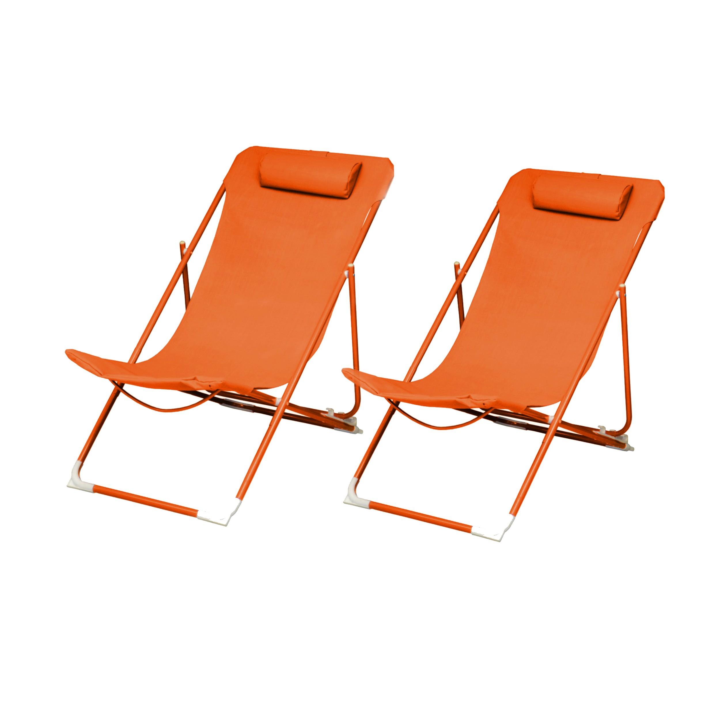 Acheter Chaise Longue Orange
