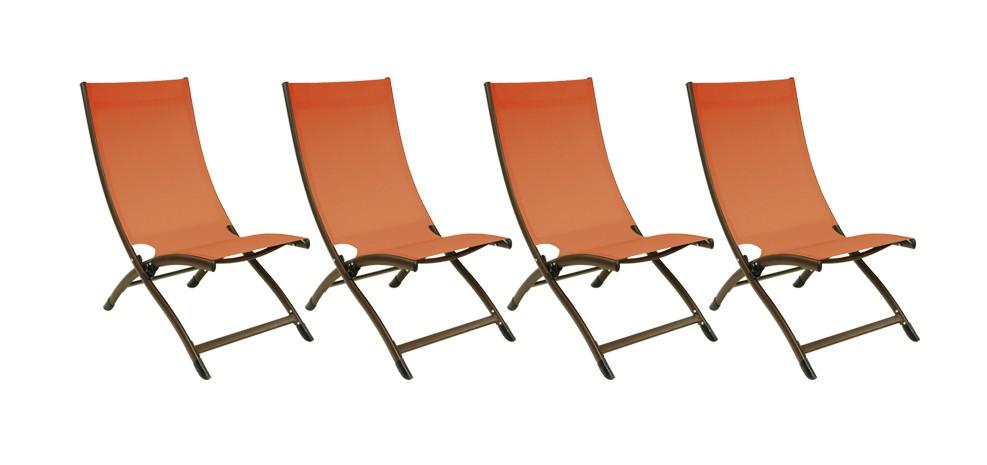 chaise longue porto fino terracotta lot de 4 achetez nos chaises longues porto fino. Black Bedroom Furniture Sets. Home Design Ideas